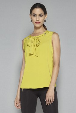 Wardrobe By Westside Lime Green Swan Blouse