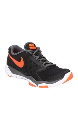 Nike Flex Supreme TR 4 Black & Orange Training Shoes