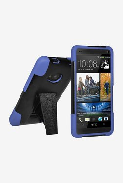 Amzer Double Layer Hybrid Case For HTC One M7 (Black/Blue)