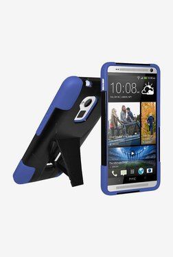 Amzer Double Layer Hybrid Case For HTC One Max (Black/Blue)