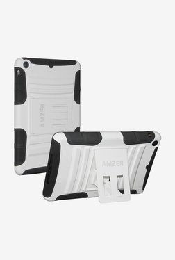 Amzer Hybrid Kickstand Case For Apple IPad Mini(White/Black)