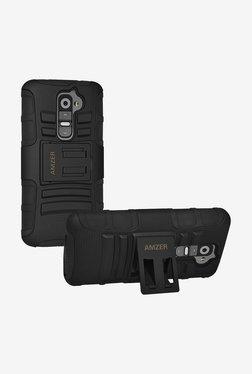 Amzer Hybrid Kickstand Case For LG G2 D802 (Black/Black)