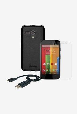 Amzer Pudding TPU Case For Motorola Moto G XT1032 (Black)