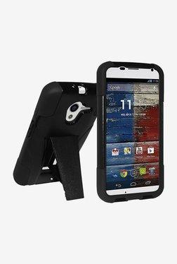 Amzer Hybrid Case For Motorola Moto X XT1055 (Black/Black)