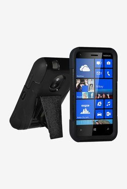 Amzer Hybrid Case For Nokia Lumia 620 (Black/Black)