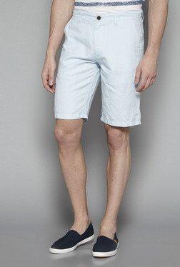 Westsport By Westside Light Blue Slim Fit Shorts