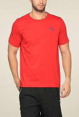Puma Red Round Neck Cotton TShirt - Mp000000001298800