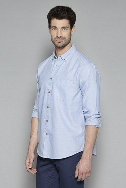 Westsport By Westside Blue Button Down Relaxed Fit Shirt