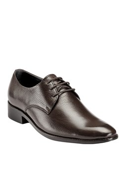 Teakwood Leathers Dark Brown Derby Shoes