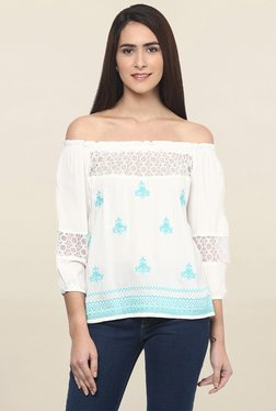 Fusion Beats White Embroidered Top