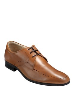 Teakwood Leathers Tan Derby Shoes
