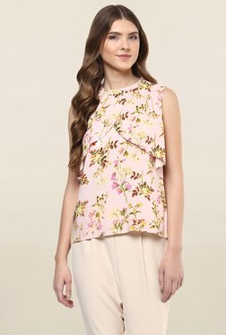 109 F Pink Floral Print Top