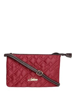 Addons Red Quilted Sling Bag