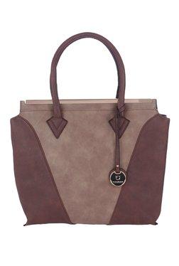 Fur Jaden Brown Color Block Shoulder Bag