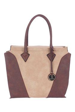 Fur Jaden Beige Color Block Shoulder Bag