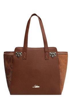 Addons Brown Snake Skin Textured Shoulder Bag