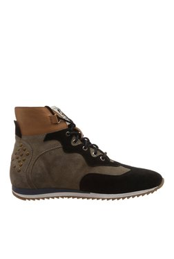 ID Brown & Black Boots