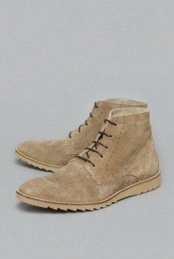 David Jones By Westside Tan Ankle Length Boots