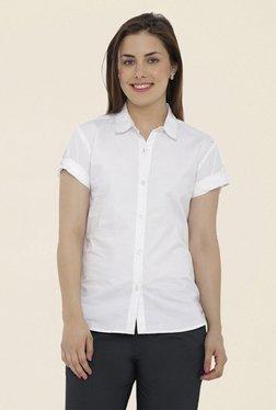 Loco En Cabeza White Solid Shirt