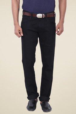 Wrangler Black Slim Fit Low Rise Jeans