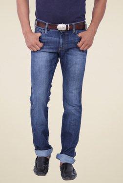 Wrangler Blue Lightly Washed Slim Fit Jeans