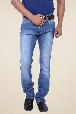 Wrangler Blue Slim Fit Low Rise Jeans