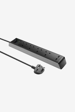Targus Smart Surge 4 With 2 USB Ports (Black)