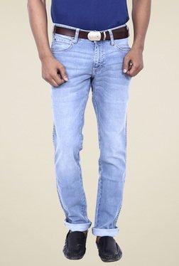 Wrangler Light Blue Regular Fit Mid Rise Jeans