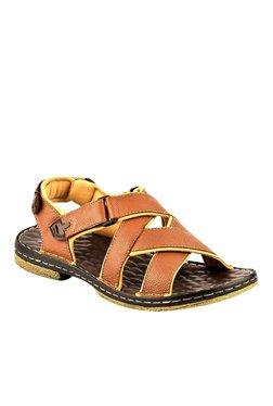 Lee Cooper Tan Back Strap Sandals