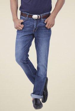 Wrangler Blue Regular Fit Mid Rise Jeans