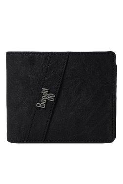 Baggit GW Cutter Upton Black Textured Wallet