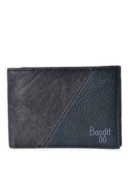 Baggit GW Tuxedo Upton Black Textured Wallet
