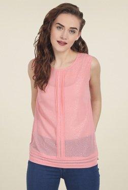 Soie Light Pink Sleeveless Top