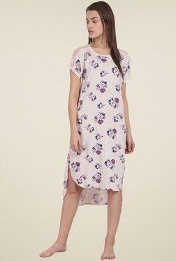 Soie Blush Floral Printed Night Dress