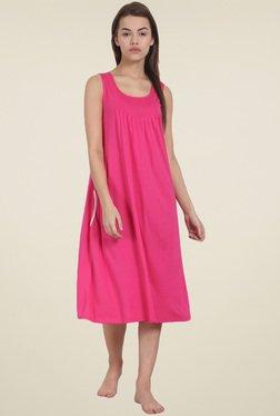 Soie Fuchsia Sleeveless Night Dress