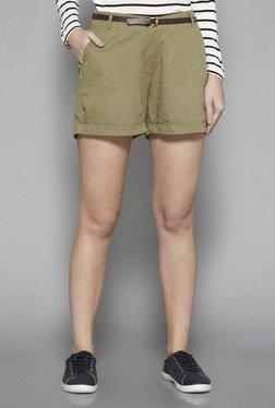 LOV By Westside Olive Teddy Shorts