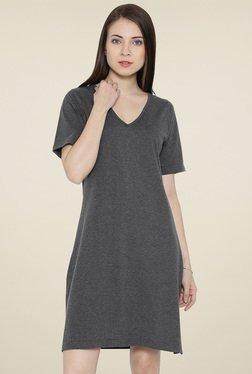 Hubberholme Charcoal Cotton Dress