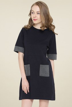 Hubberholme Navy Short Sleeves Dress