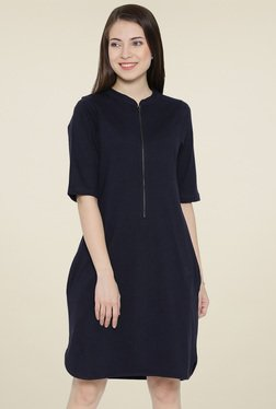 Hubberholme Navy Elbow Sleeves Dress