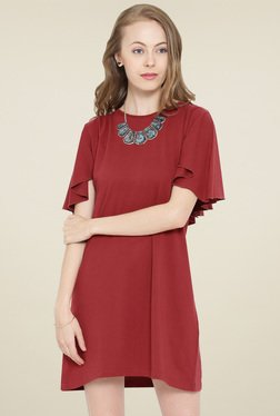 Hubberholme Red Short Sleeves Dress