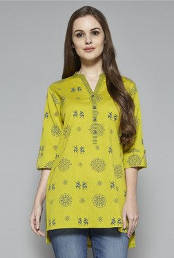 Utsa By Westside Lime Green Printed Kurti