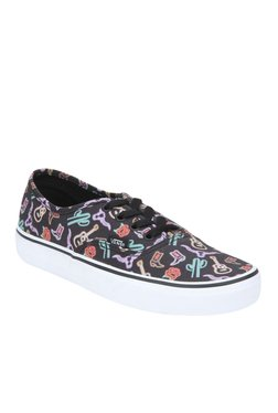 Vans Authentic Black & Red Sneakers