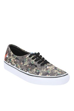 Vans Authentic Grey & Green Sneakers