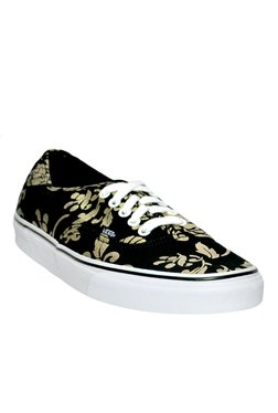 Vans Authentic Black & Golden Sneakers