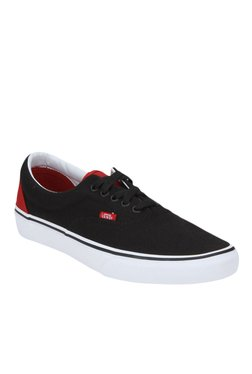 Vans Era Black & Pepper Red Sneakers