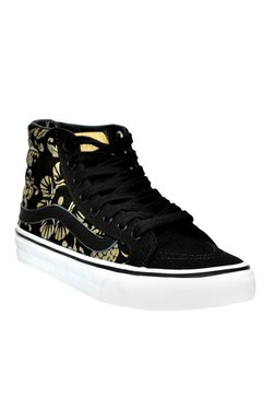 Vans SK8 Black   Golden Ankle High Sneakers d24d78c58