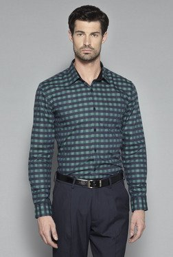 Weststreet by Westside Green Regular Fit Shirt