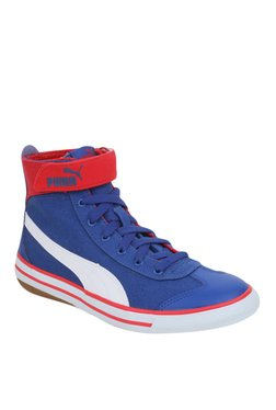 Puma 917 Fun Mid PS IDP Blue & Red Ankle High Sneakers