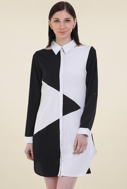 Instacrush Black & White Full Sleeves Dress