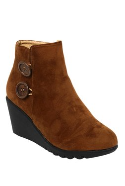 Bruno Manetti Camel Casual Booties